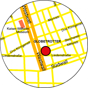 Anfahrt Globetrotter Krefeld