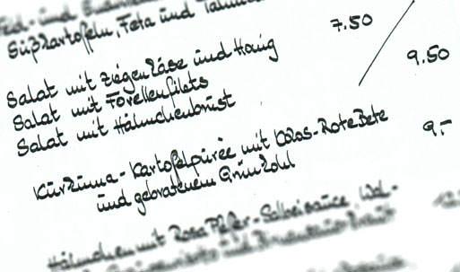 Speisekarte Globetrotter Krefeld
